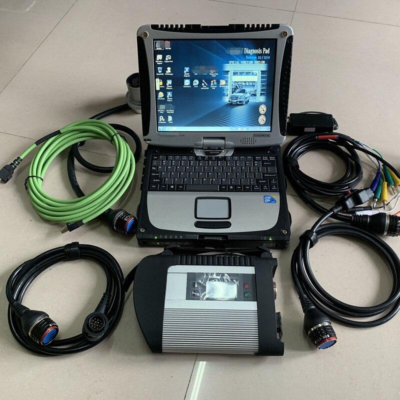 Mb star c4 sd conectar con el ordenador portátil cf-19 toughbook instalar hdd mb star sd c4 2019,03 v das dts X wis vediamo hht listo para usar