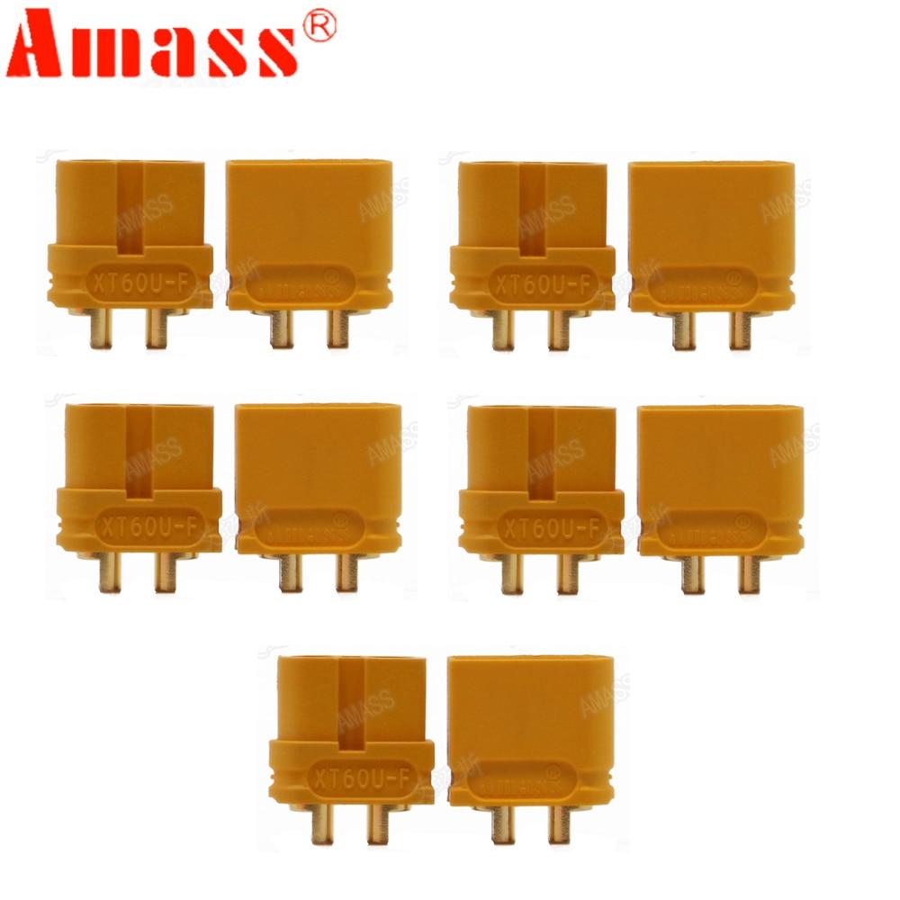 10 x AMASS XT60U XT60 actualización conector de clavija de 3,5mm con conector de Banana chapado en oro (5 pares)