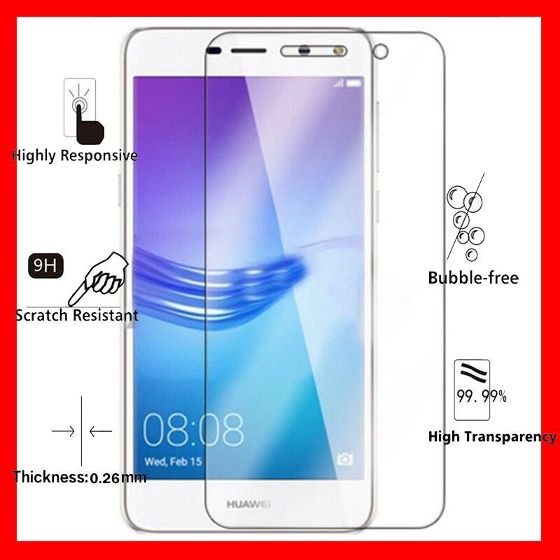 2.5D de Vidro Temperado para Huawei Y5 2017 9 H à prova de Explosão-Película Protetora Protetor de Tela para MYA-L02 MYA-L03 MYA-L22