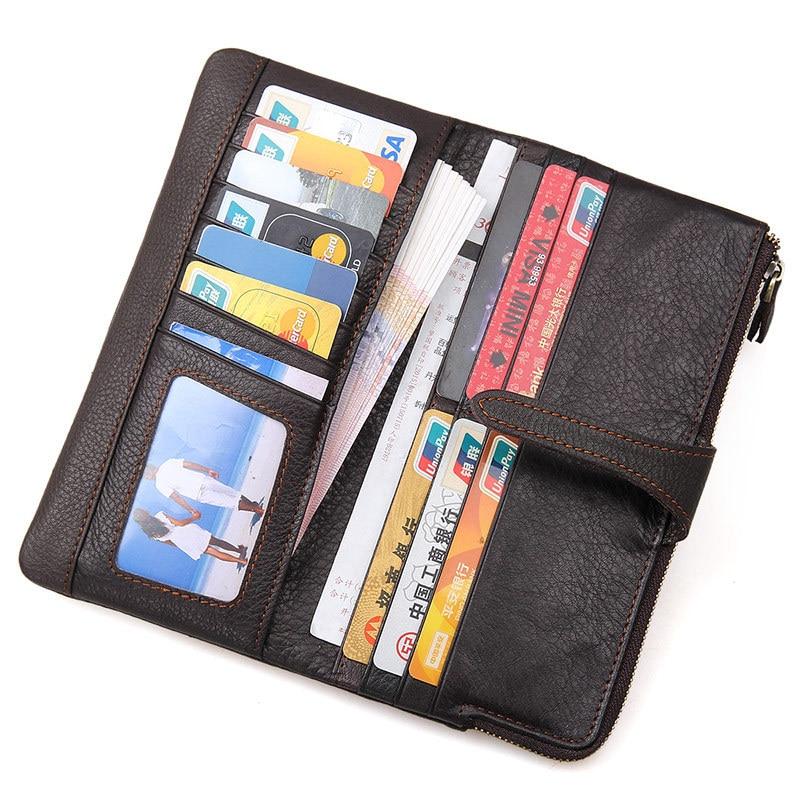 Billeteras Vintage de cuero genuino