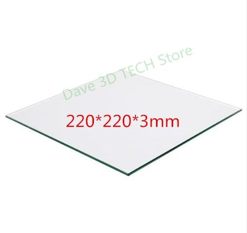 220x220 мм 3D принтер Часть стеклянная пластина для сборки поверхности Подогреваемая кровать боросиликатная пластина для подогрева кровати MK2/...