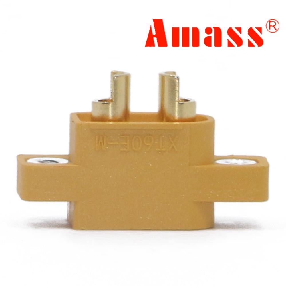 AMASS 2pcs/5pcs/10pcs XT60E-M Mountable XT60 Male Plug Connector For Racing Models Multicopter Fixed Board DIY Spare Part
