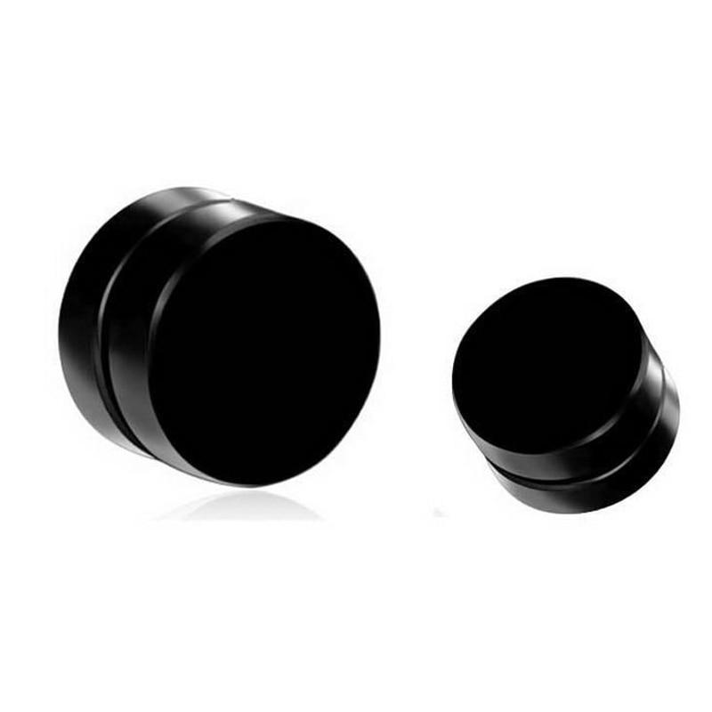 Круглые серьги-пусеты Shellhard, черные магнитные круглые серьги-Пусеты Из Нержавеющей Стали, магнитная серьга, поддельные пробки, без пирсинга,...