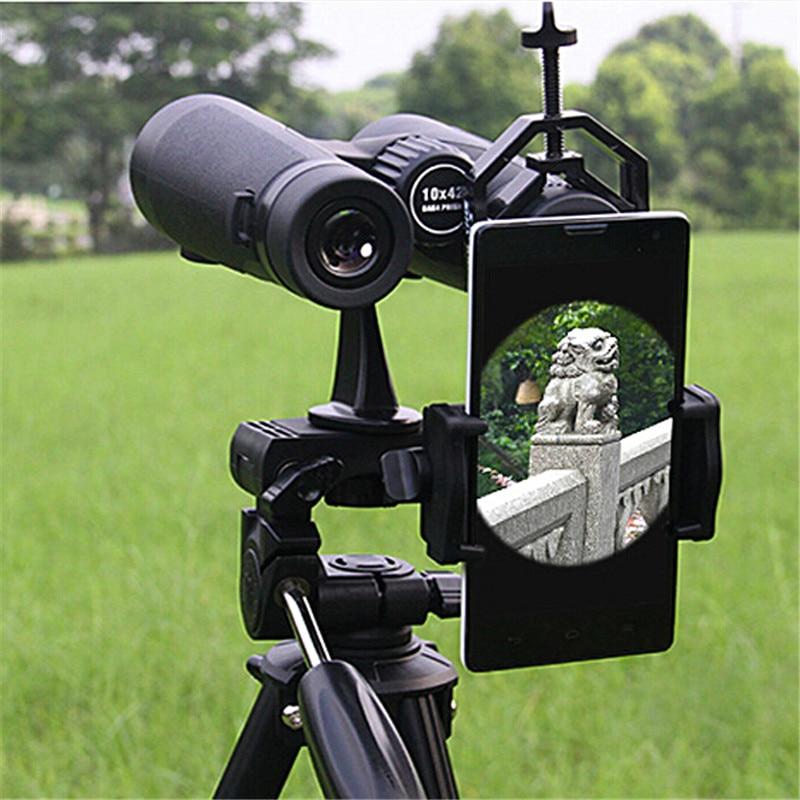 Telescópio conectar telefone celular suporte adaptador de montagem dispositivo óptico t-adaptador para binocular microscópio monocular vhk60