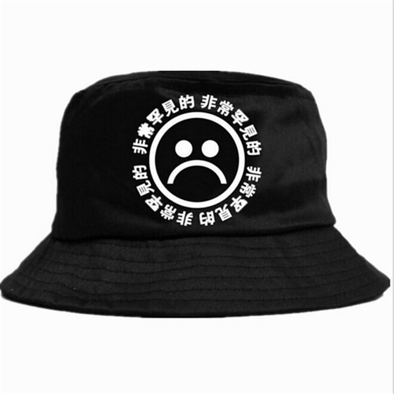 Nuevo sombrero plano de pescador de verano KYC Vintage negro sombrero de cubo triste niños hombres mujeres Hip Hop gorra de pesca Sprots sombrero Panamá sombrero de sol