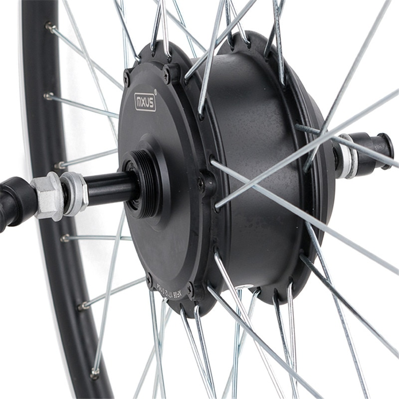 MXUS High Quality Brushless Gear Hub Electric Motors 36V 48V 350W For Electri Bike 26inch - 28inch 700C Bicycle Rear Wheel Drive