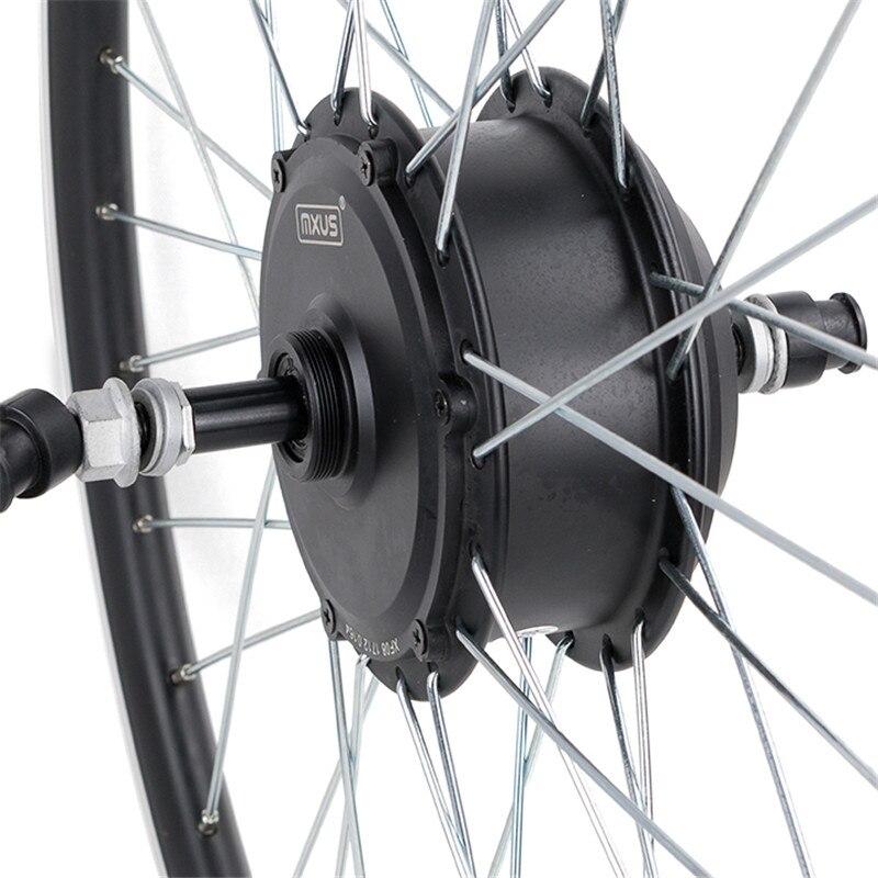 Mxus alta qualidade brushless gear hub motores elétricos 36 v 48 v 350 w para electro bicicleta 26 polegadas-28 polegada 700c bicicleta roda traseira