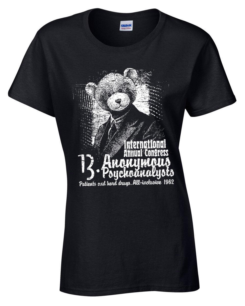 Camiseta de psicoanalizadores anatómicos para mujer, S-XL, drogas duras, viaje, ácido