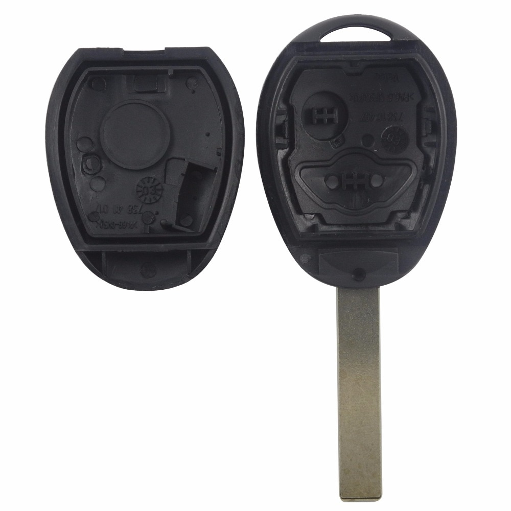 Jingyuqin Remote Car Key Case Shell For BMW Mini Cooper R50 R53 Alarm Systems Security 2 Buttons Uncut Blade Key Fob Cover