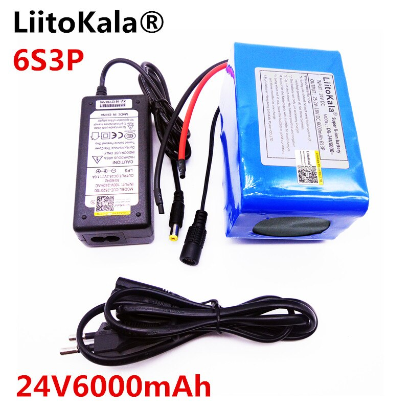 HK LiitoKala 24V 6Ah 6S3P аккумулятор 25,2 V 18650 Аккумулятор 6000mAh аккумуляторная батарея для gps-навигатора/автомобиля гольфа/электровелосипеда