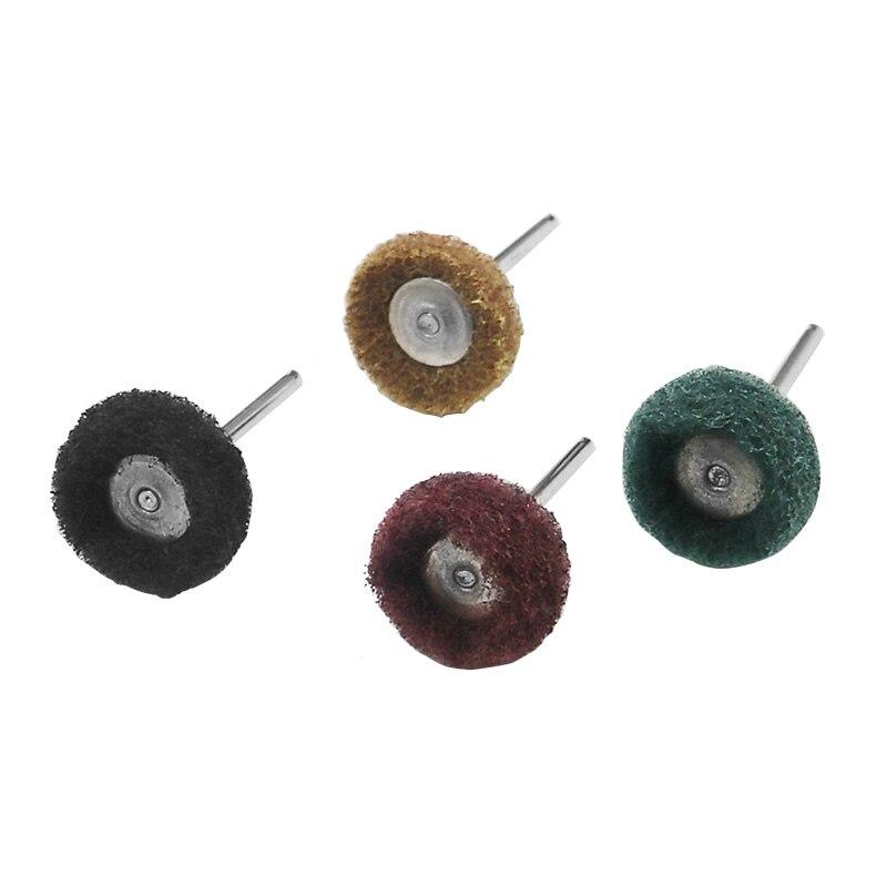 80 pezzi / set mini spazzola spugnetta abrasiva ruota abrasiva in - Utensili abrasivi - Fotografia 4