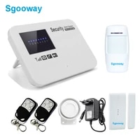 Sgooway     systeme dalarme domestique sans fil  GSM  avec detecteur PIR  russe  anglais  espagnol  francais  securite vocale