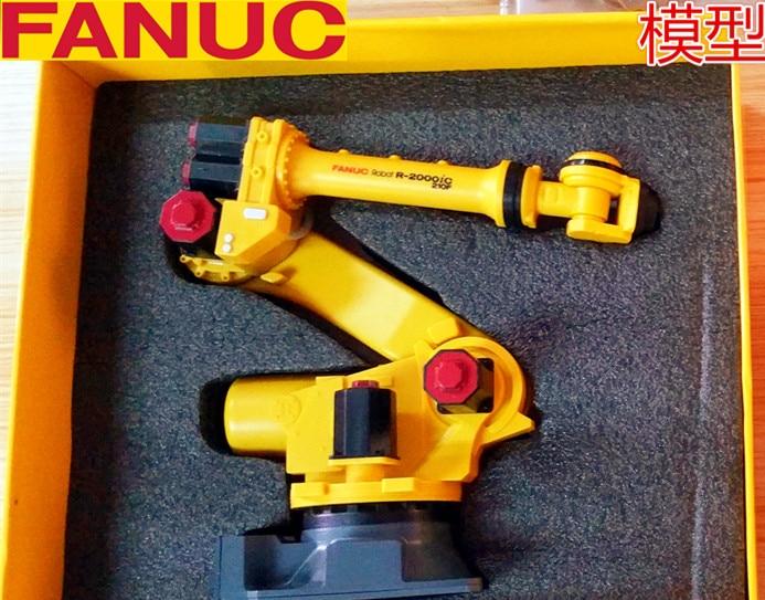 Exquisito Robot 3D modelo a escala 110 FANUC, modelo de brazo manipulador de R-2000iC-210F, articulación múltiple Vertical para colección, decoración