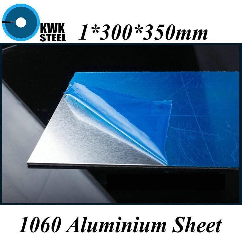 1x300x350mm, lámina de aluminio 1060, placa de aluminio puro, Material DIY, envío gratis