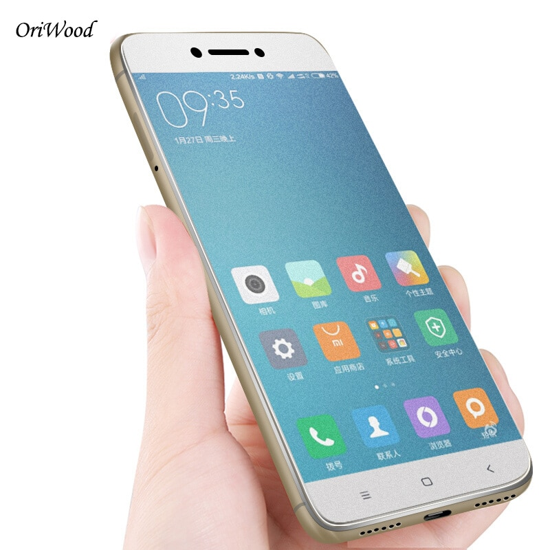 OriWood de vidrio para Xiaomi Mi Max 2 Max2 Anti-huellas dactilares de 2.5D mate Protector de pantalla de vidrio templado película para Xiaomi.