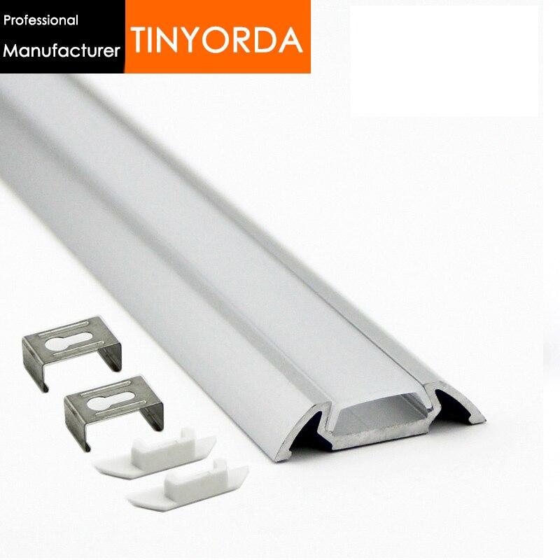 Tinyorda 1000Pcs (1M Length)Alu Led Strip Profile  Led Channel Profil for 13mm LED Strip [Professional Manufacturer] TAP3006