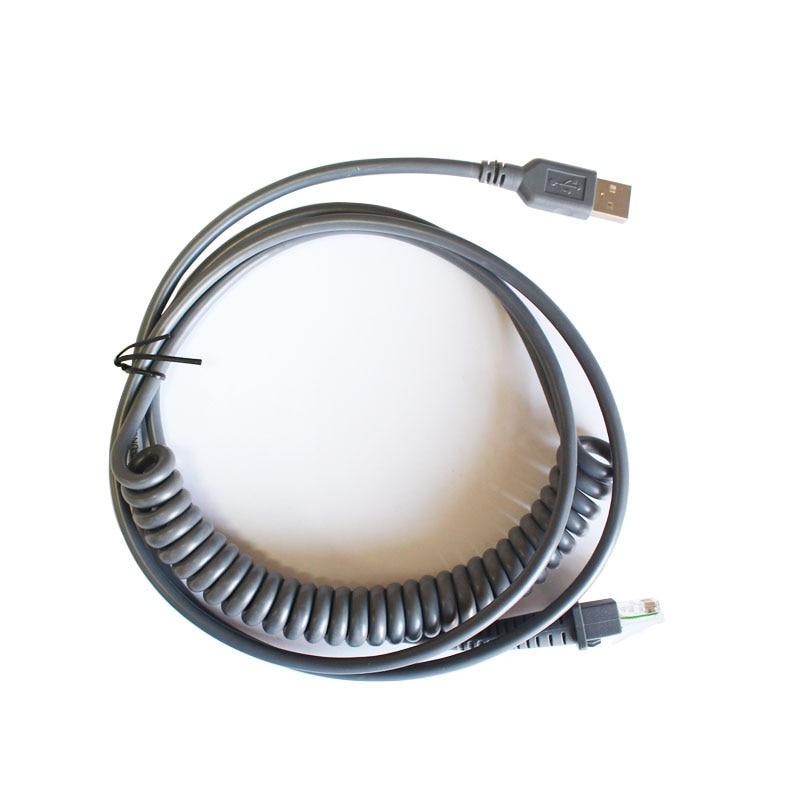 Nuevo Cable de resorte recto USB 3M para Datalogic D100 GD4130 QD2130 Cable para Escáner de código de barras