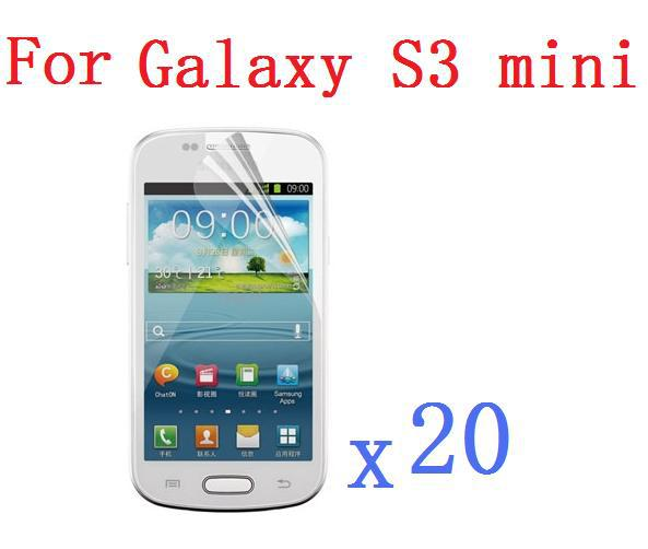 High Clear LCD Screen Protector For Samsung Galaxy S3 III mini I8190 + Cleaning Cloth +Wholesale For