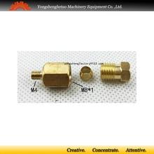 Conector de rosca macho adaptador recto M4 para tubo de diámetro exterior de 4mm
