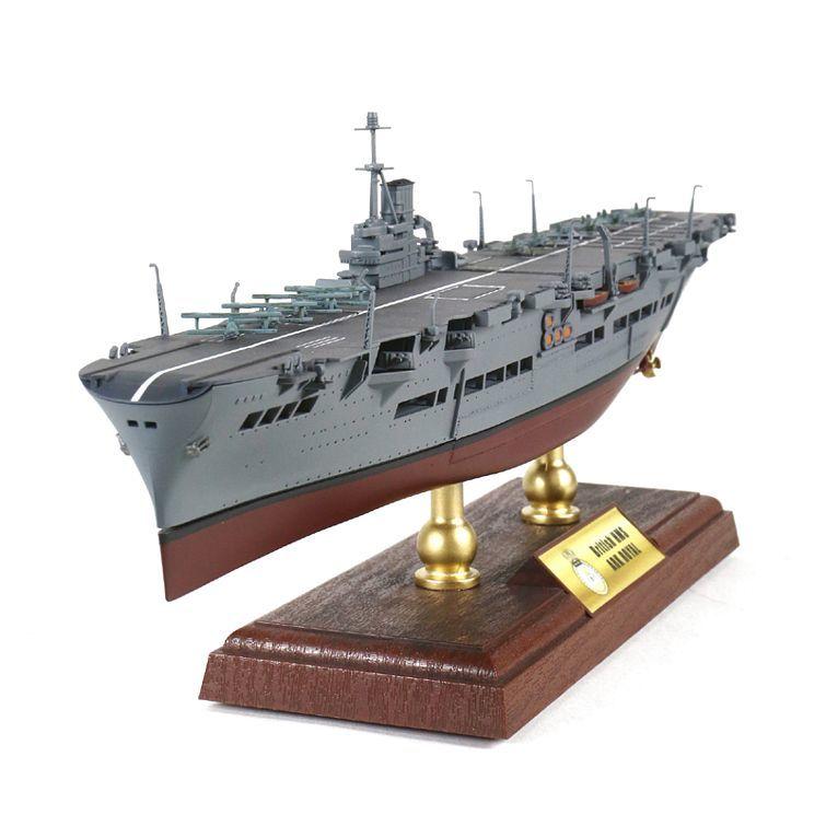 FOV 1/700 escala militar juguetes HMS Ark Royal Aircraft Carrier Diecast Metal Warship modelo de juguete para la colección, regalo