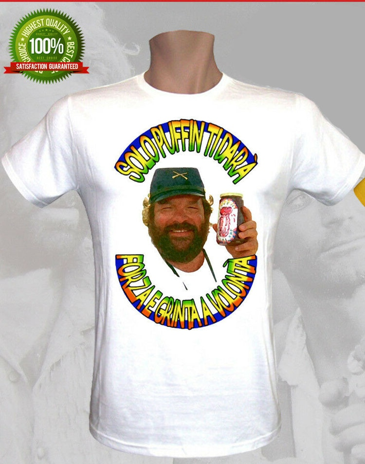Camiseta Solo Puffin Marmellata Bud Spencer & Terence Hill, nuevas camisetas Unisex, divertidas camisetas, modelos básicos, camisetas para hombres