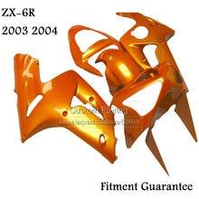 Kit de carpette de moulage par Injection   orange métallique, pour Kawasaki zx6r zx 6r Ninja 03 04 2003 2004 tp32