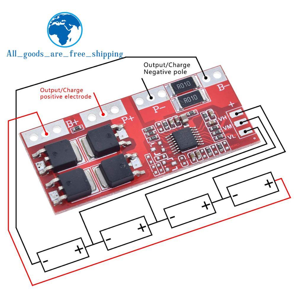 Умная электроника 4S 30A высокая сила тока литий-ионная батарея 18650 зарядное устройство Защитная плата 14,4 V 14,8 V 16,8 V перезарядка