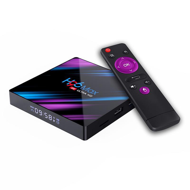 Reproductor multimedia H96 para Android 9,0 HD, decodificador de televisión con Quad Core max 3318, 2 + 16G/4 + 32G/4 + 64G inalámbrico WiFi 2,4G/5G r29