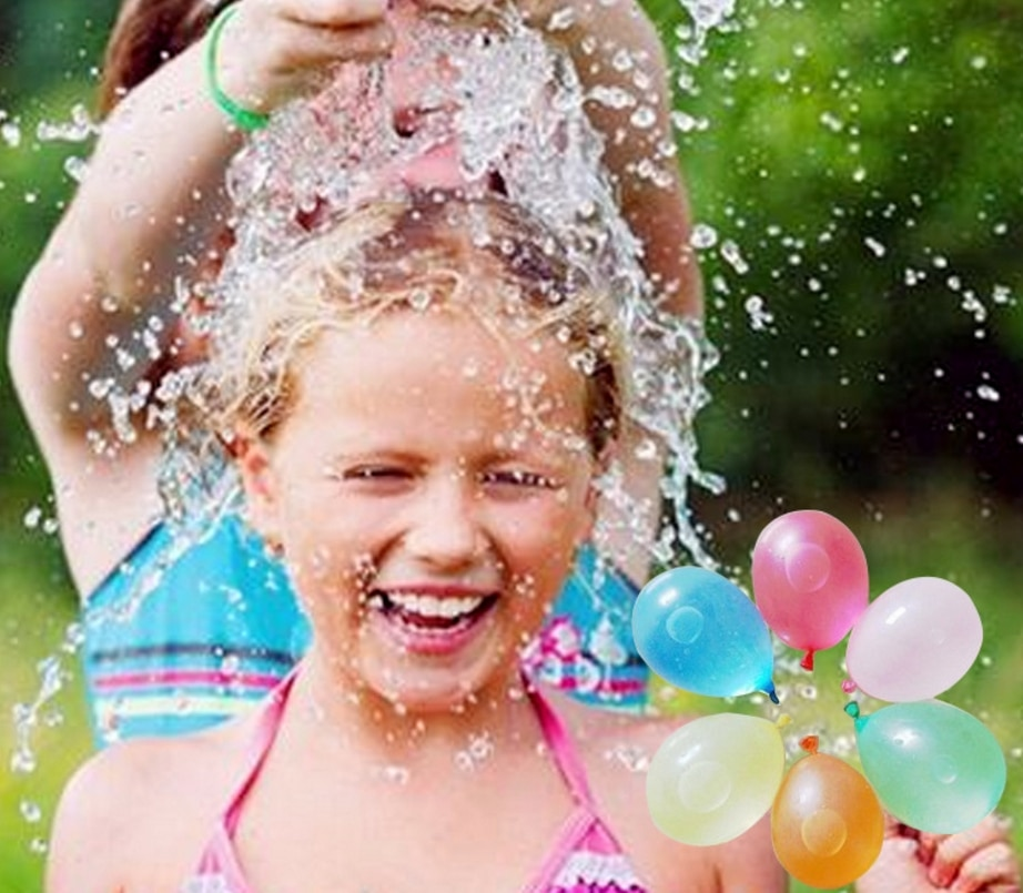 500 Uds bombas de agua Globos de agua coloridos para niños fiesta caliente verano arena playa piscina pequeño globo