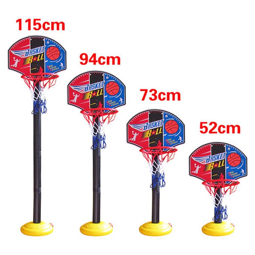 Indoor ao ar livre super conjunto de basquete criança brinquedos de fitness mini suporte basquete hoop backboard base tubo inflator para crianças