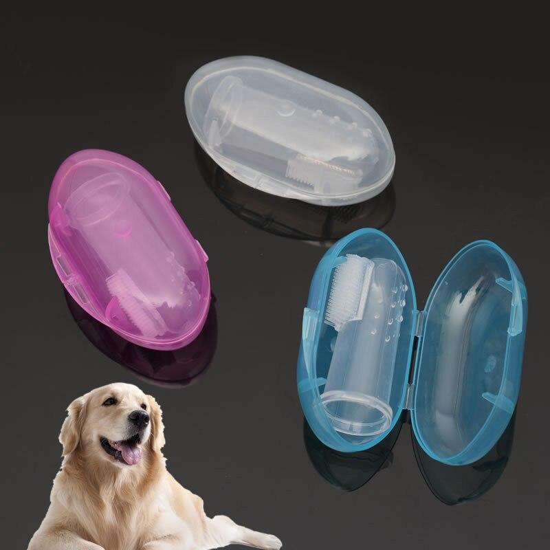 1 cepillo de dientes de goma para mascotas, juguetes para perros, guante de silicona de protección del medio ambiente para perros y gatos, cepillo dental para perro de juguete
