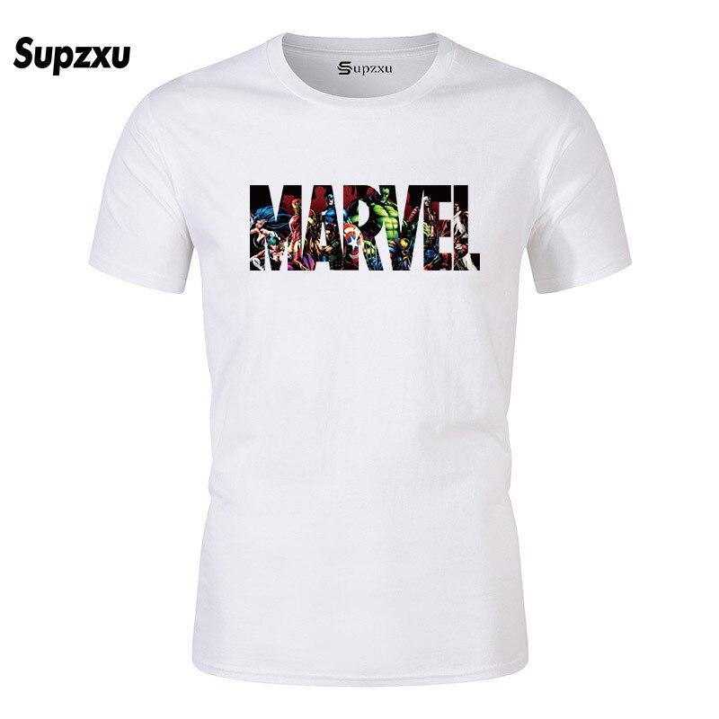 ¡Novedad de 2019! Camiseta de manga corta de Marvel con estampado de superhéroe para hombre, Camiseta con cuello de ö, camiseta para hombre, ropa para hombre