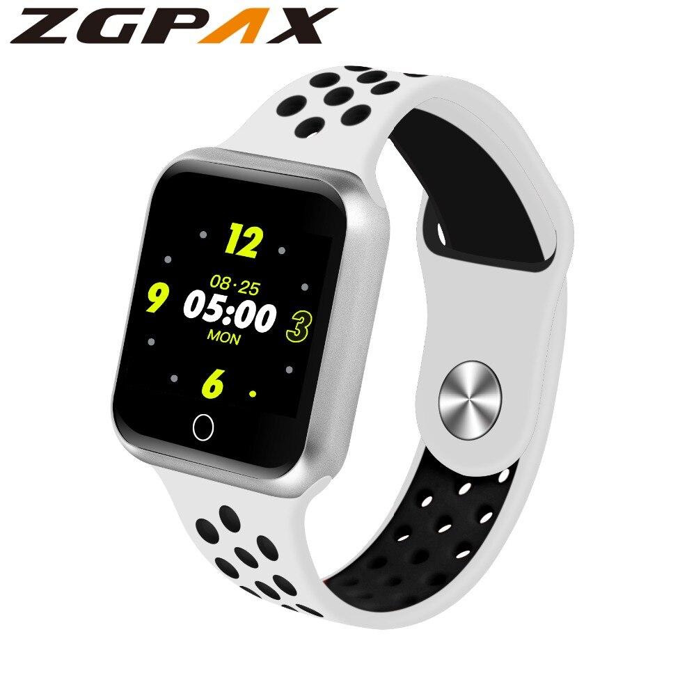 Nuevo S226 banda inteligente de pantalla de Monitor de ritmo cardíaco pulsera rastreador de fitness de presión arterial inteligente Correa deportiva de reloj pulsera