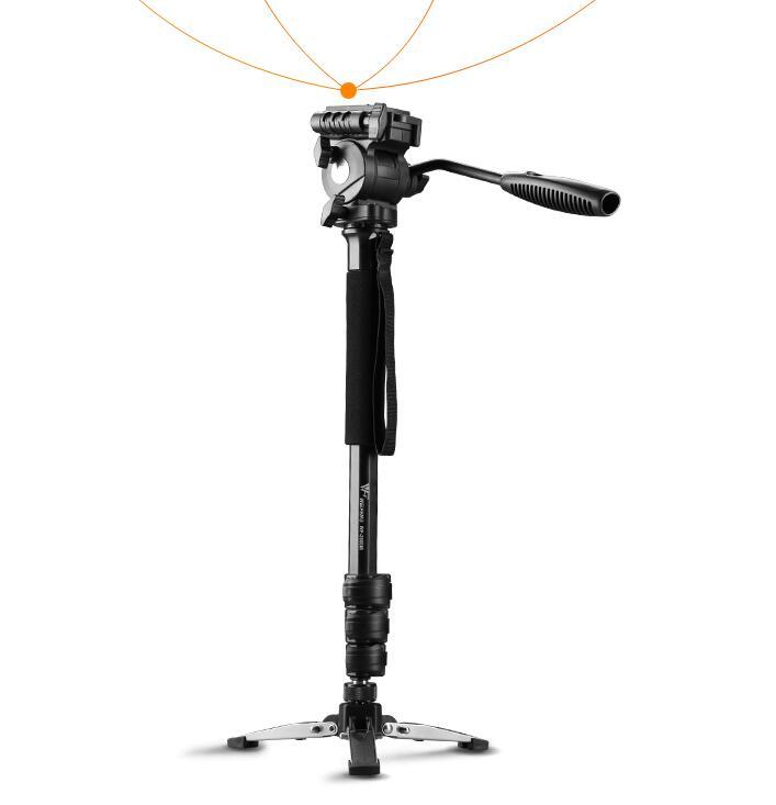 WEIFENG WF 3958 متر كاميرا DSLR Monopod ترايبود فيديو DV السائل حامل الرأس كاميرا السفر