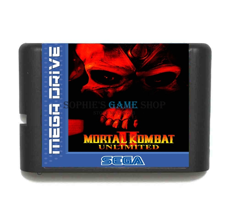 Mortal Kombat II Unlimited Game Cartridge Newest 16 bit Game Card For Sega Mega Drive / Genesis System