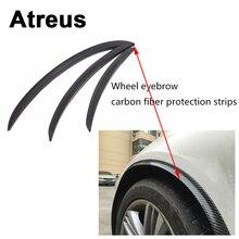 Atreus1pc Voiture Fender Protéger Roue Pneu Bord Sourcils Carbone Autocollants Pour BMW e46 e39 e36 Audi a4 b6 a3 a6 c5 Renault duster Lada