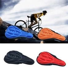 Acessórios da bicicleta ao ar livre sela assento macio 3d conjunto grosso gel almofada de silicone bicicleta ciclismo ultra leve capa almofada