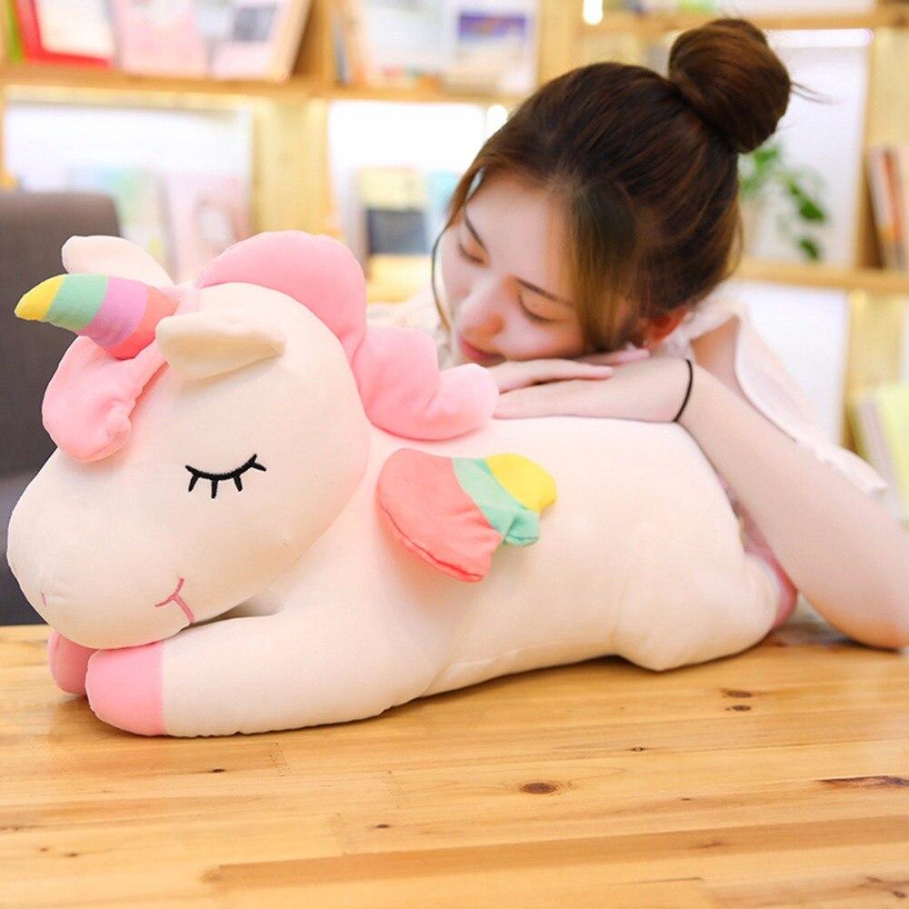 Unicornio gigante animales de peluche Unicornio de juguete Animal caballo de alta calidad regalo de dibujos animados para niños