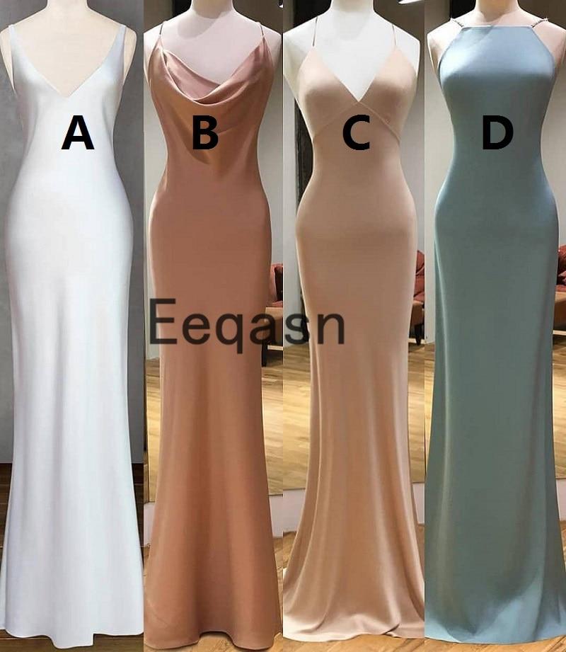 Sexy Long Elastic Satin Mermaid Evening Dresses V Neck Elegant Simple Formal Evening Party Dresses High Quality Custom Size