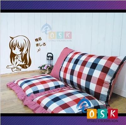 Pegatina de vinilo para pared Sakurasou no pet na kanojo Shiina Mashiro, pegatina decorativa de Anime para coche