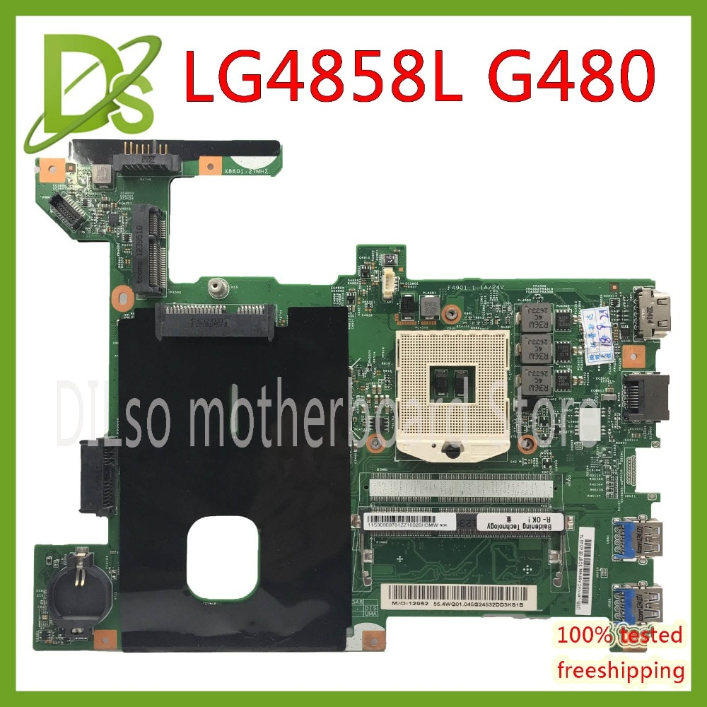 KEFU LG4858L para Lenovo G480 LG4858L Laptop placa base LG4858L UMA MB 12206-1 Placa base de prueba GM original