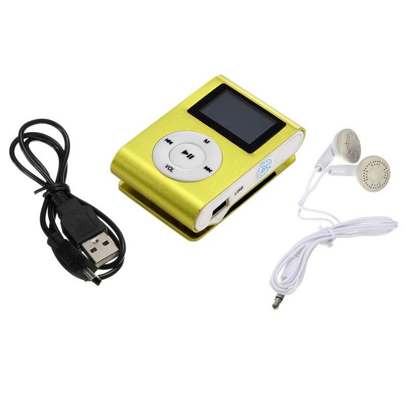 HIPERDEAL Metal Clip Digital MP3 Player Mini USB mp3 reproductor de medios de música con auricular soporte Micro SD TF tarjeta letare D30 Jan9