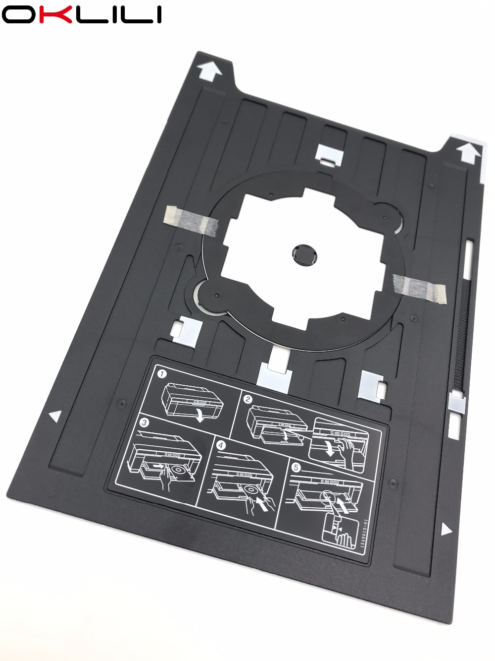 1PCX Print CD DVD VCD tray holder Disc Bracket for Epson 1400 1410 1430 1430W 1500W R800 R1800 R1900 R2000 R2880 R3000 P400 P600