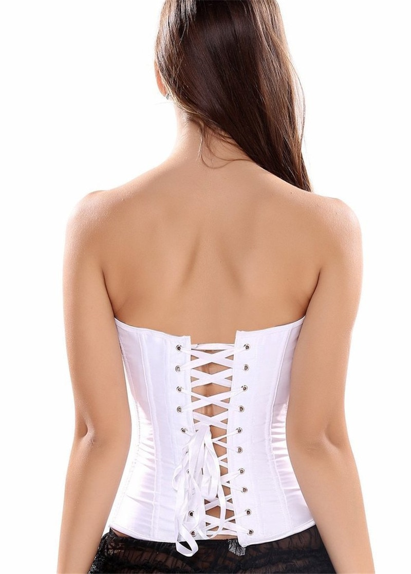 Sapubonva Overbust Corset Plus Size Sexy Corselet Corsets and Bustiers Tops Red Black Pink Purple White Gothic Lingerie Women