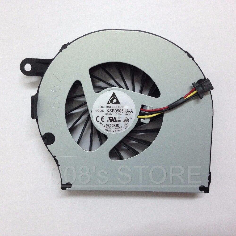 New Laptop CPU Cooler Fan For HP Compaq CQ72 G72 CQ62 G62 612355-001 KSB0505HA-A 9K62 NFB73B05H Ab7505HX-EC3 3 Pin