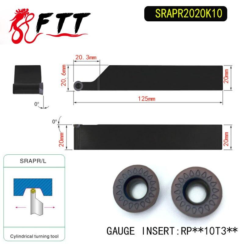 SRAPR2020K10 soporte de herramienta de torneado externo para RPMT10T3 utilizado en la máquina de torno CNC