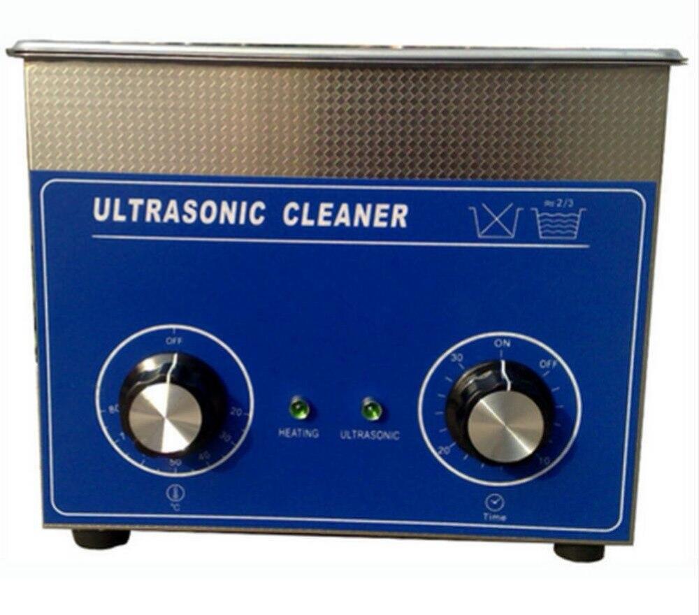 3L inoxidable limpiador ultrasónico con calentador y temporizador Lab uso herramienta