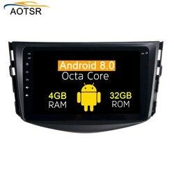 4g + 64g android 9.0 carro dvd para toyota rav4 2009 2010 2011 2012 rádio estéreo navegação gps com volante