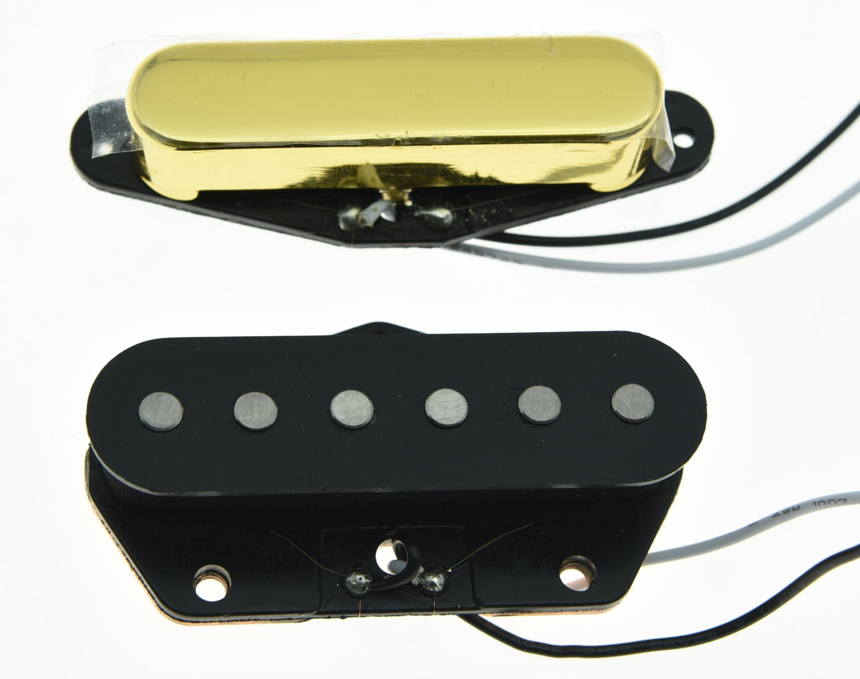 KAISH conjunto de 2 Vintage sonido Alnico 5 Tele pastillas conjunto encaja para Telecaster de oro