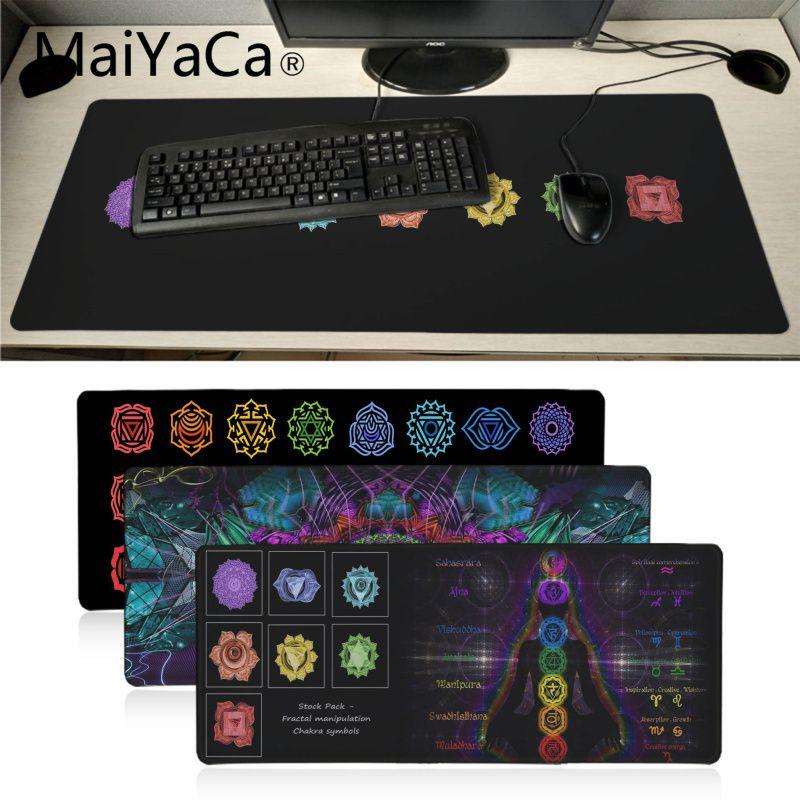 Maiyaca Fractal-alfombrilla de ratón con diseño de chacra para videojuegos, tapete de...